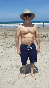 physique at beach